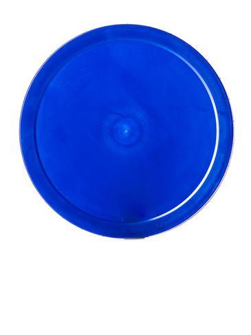 Blue PP plastic 120-400 ribbed skirt unlined lid