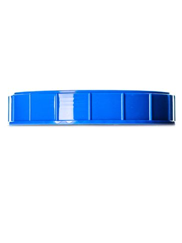 Blue PP plastic 120 mm ribbed skirt unlined triple thread lid