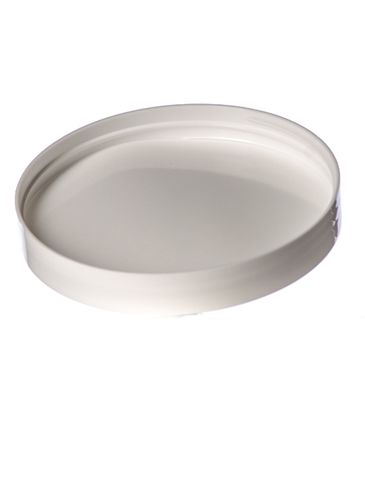 White PP plastic 120-400 smooth skirt lid with foam liner