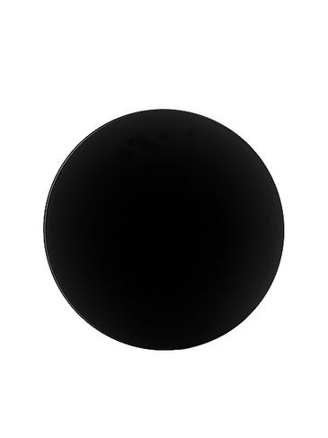 Black PP plastic 70-400 smooth skirt lid with foam liner