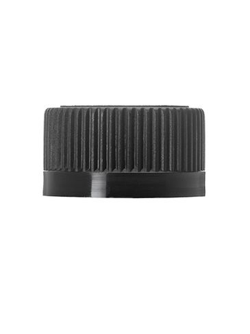 Black PP plastic 24-400 child-resistant cap with heat induction seal (HIS) liner (for PET and PVC containers only)