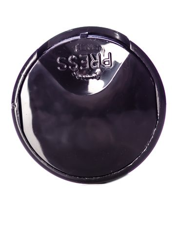 Black PP plastic 24-410 smooth skirt unlined disc top cap