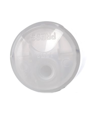 Natural-colored PP plastic 24-410 smooth skirt unlined disc top cap