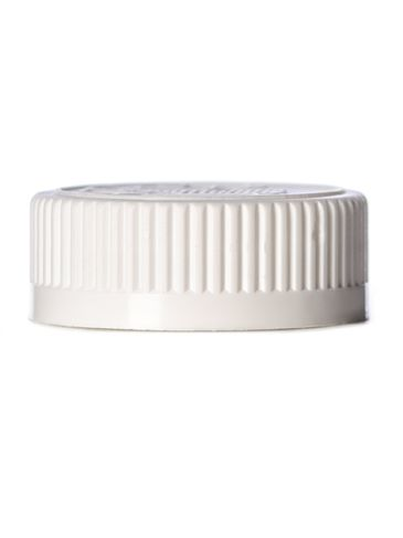 White PP plastic 38-400 child-resistant cap with heat induction seal (HIS) liner (for HDPE, LDPE and MDPE containers only)
