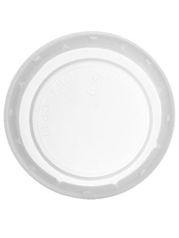 White HDPE plastic 38-DBJ tamper-evident lid
