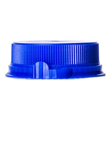 Blue LDPE plastic 38SS ribbed snap screw tamper-evident dairy lid