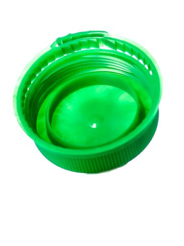 Green LDPE plastic 38SS ribbed snap screw tamper-evident dairy lid