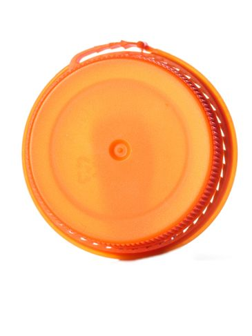 Orange LDPE plastic 38SS ribbed snap screw tamper-evident dairy lid
