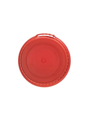 Red LDPE plastic 38SS ribbed snap screw tamper-evident dairy lid