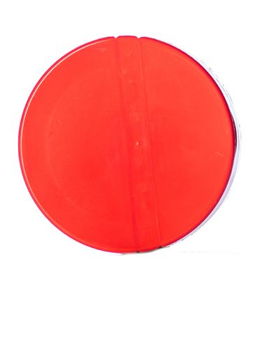 Red PP plastic 53-485 smooth skirt 3-hole flip top sifter spice cap with heat induction seal (HIS) liner
