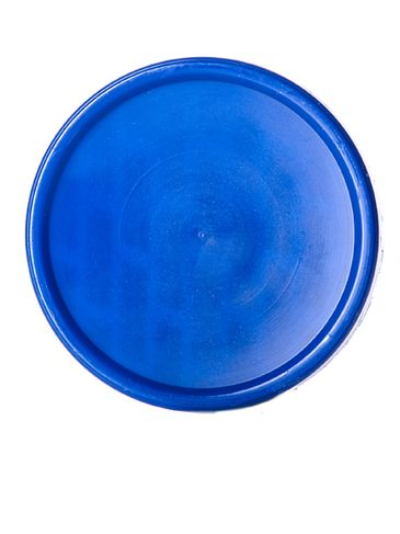 Blue PP plastic 53-400 smooth skirt lid with printed  pressure sensitive (PS) liner
