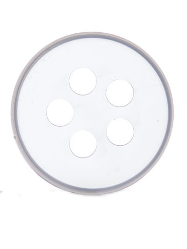 Natural-colored PP plastic 43 mm 5-hole spice sifter disc
