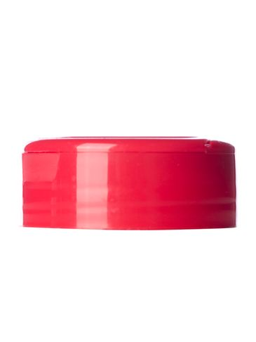 Red PP plastic 48-485 smooth skirt 5-hole flip top sifter spice cap with heat induction seal (HIS) liner