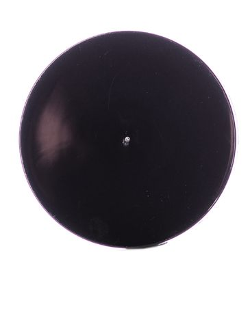 Black PP plastic 70-400 smooth skirt lid with 2-piece heat induction seal (HIS) liner (for PET and PVC containers only)