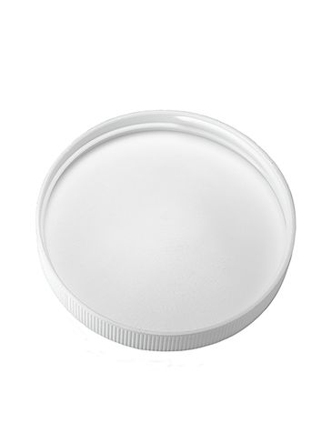 White PP plastic 83-400 ribbed skirt lid with foam liner