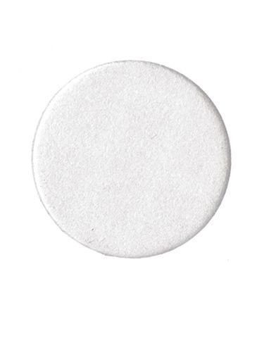 24 mm white foam printed pressure sensitive (PS) liner - uninstalled