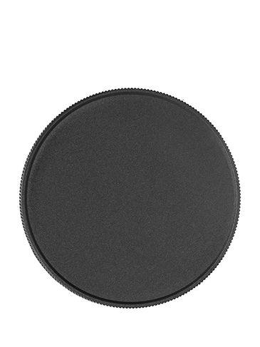 Black PP plastic 89-400 ribbed skirt lid with foam liner