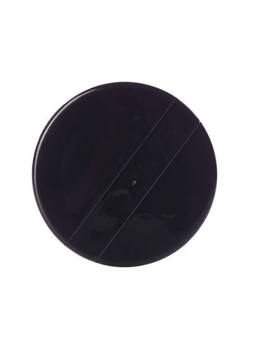 Black PP plastic 43-485 smooth skirt sifter lid with heat induction seal (HIS) liner