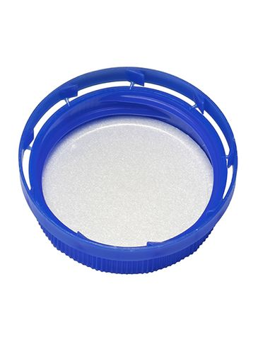 Blue HDPE plastic 38-400 tamper evident dairy lid with foam liner