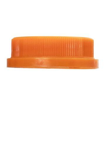 Orange HDPE plastic 38-400 tamper evident dairy lid with foam liner