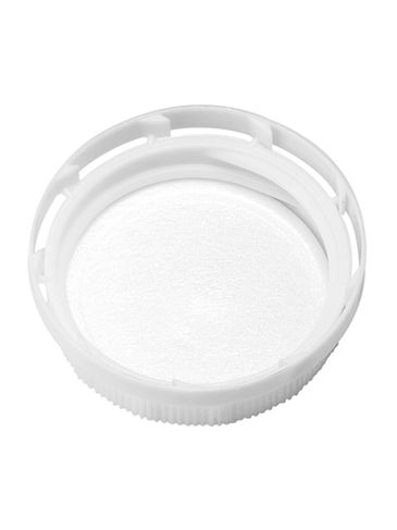 White HDPE plastic 38-400 tamper evident dairy lid with foam liner