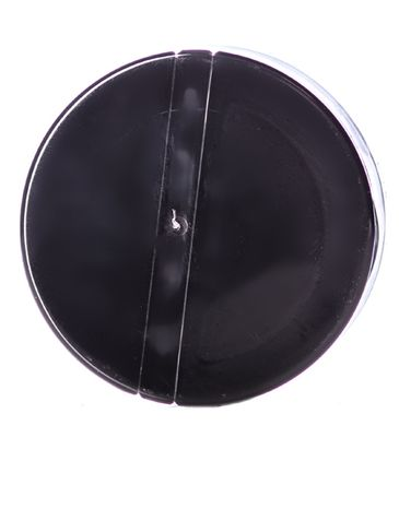 Black PP plastic 53-485 smooth skirt 3-hole flip top sifter spice cap with heat induction seal (HIS) liner