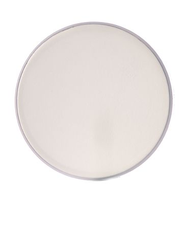 Natural-colored PP plastic 89-400 smooth skirt lid with foam liner