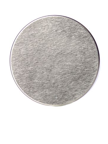 Silver metal 70-400 smooth skirt unishell lid with foam liner