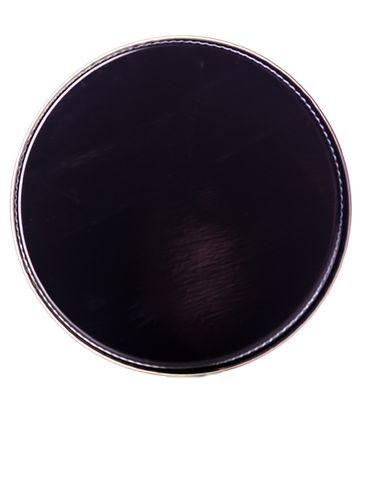 Black metal 70-400 lid with pulp and polyethylene (PPE) liner