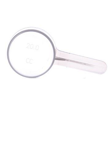 20 cc natural-colored plastic scoop