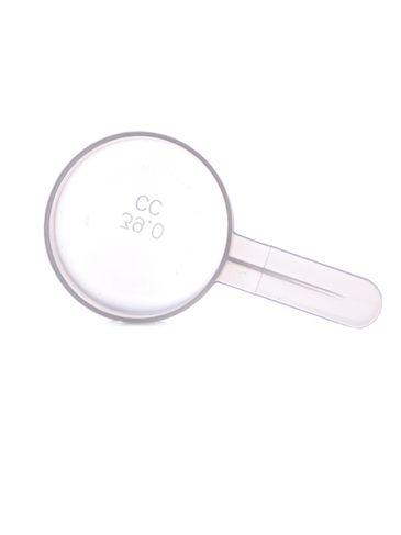 39 cc natural-colored plastic scoop