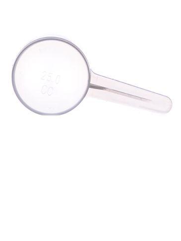 25 cc natural-colored plastic scoop