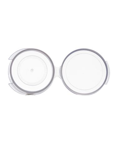 1/4 oz clear PP plastic hinged container