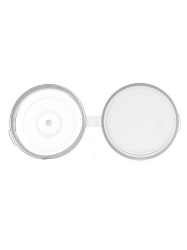 1 oz clear PP plastic hinged container