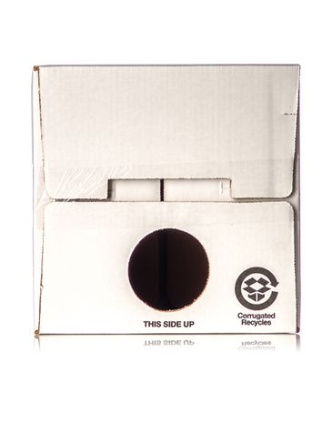 White paperboard carton for 5 gallon cubitainer