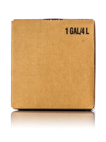 1 gallon brown paperboard cubitainer carton