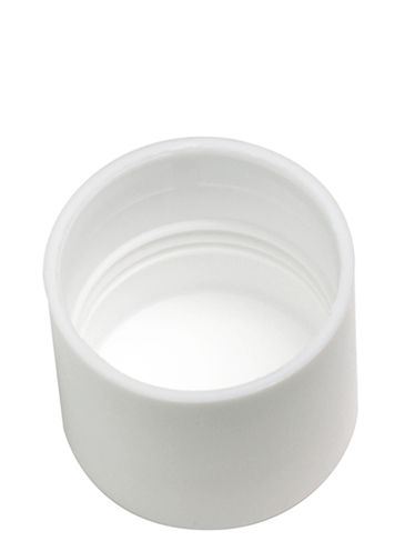 Flat white PP plastic lip balm tube lid