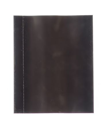 52x65 Black PVC plastic perforated shrink band for 28 mm neck finish