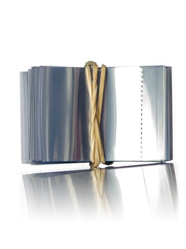38 mm x 25 mm clear PVC plastic perforated shrink band