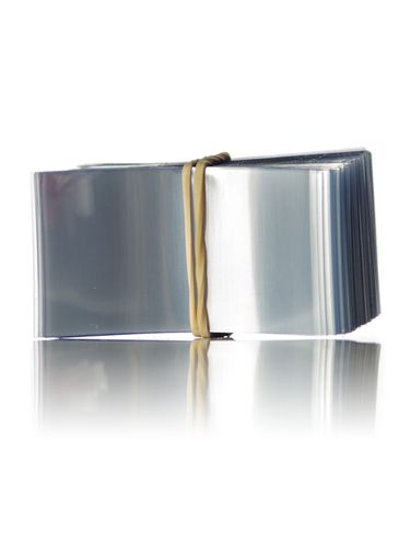 50x27 Clear PVC plastic non-perforated shrink band