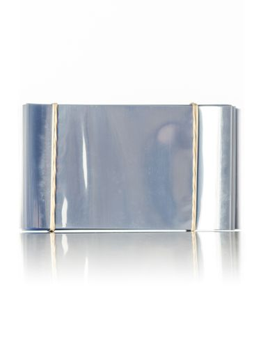 118 x 70 mm clear PVC plastic perforated shrink band