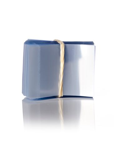 48 x 30 mm clear PVC plastic perforated shrink band for droppers and child-resistant lids