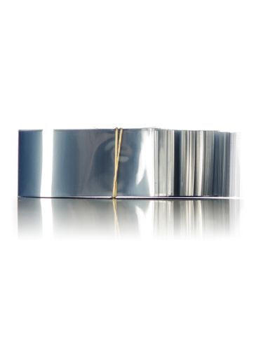 190x35 Clear PVC plastic non-perforated shrink band for tubs