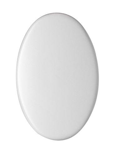 White PP plastic lip balm lid for M211WH