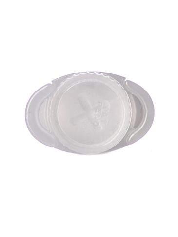 1/8 oz natural-colored PP plastic oval lip balm tube (lid sold separately)