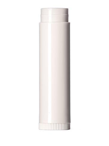 3/16 oz white PP plastic lip balm tube (lid sold separately)