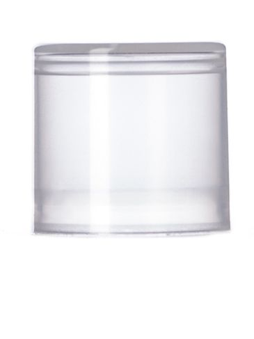 Natural-colored PP plastic flat lip balm lid