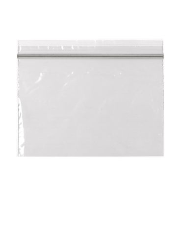 6 x 4 inch clear 2 mil thick back with zip lock seal
