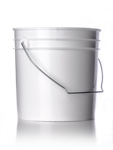 1 gallon white HDPE plastic pail of 65 mil thickness with handle