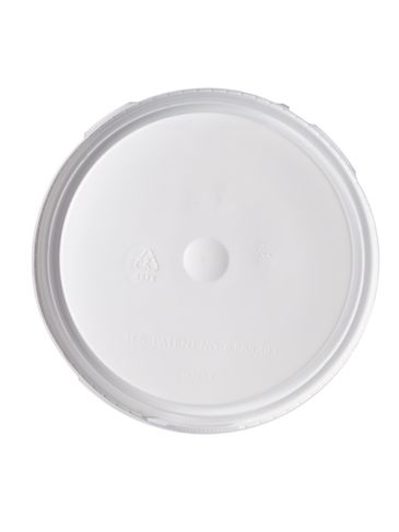 1 gallon white HDPE plastic double-lock tear-tab lid of 50 mil thickness